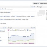 """This is what the admin panel looks like in Facebook timeline for brand pages. Notice the top right-hand tabs for """"manage,"""" """"build audience,"""" etc."""