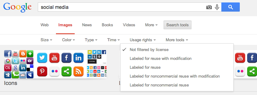 Google Image Search Social Media